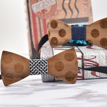 Wooden Bow Tie Stereoscopic Dot
