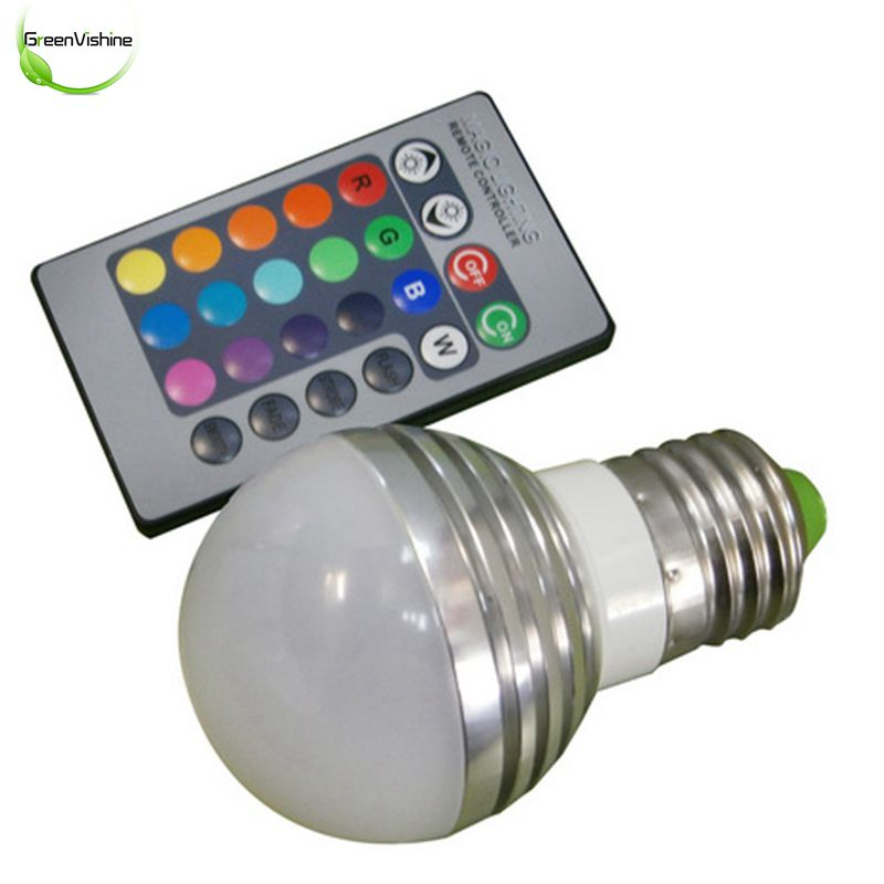 RGB LED Lamp AC85-265V 3W E27 Led 16 Color Bulb Changeable Lamp Multiple Colour With Remote Control Led Lighting