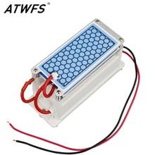 ATWFS Portable Générateur D'ozone 220 V/110 V 10g Double Feuille En Céramique Plaque Intégré Générateur D'ozone Eau Air ozoneur