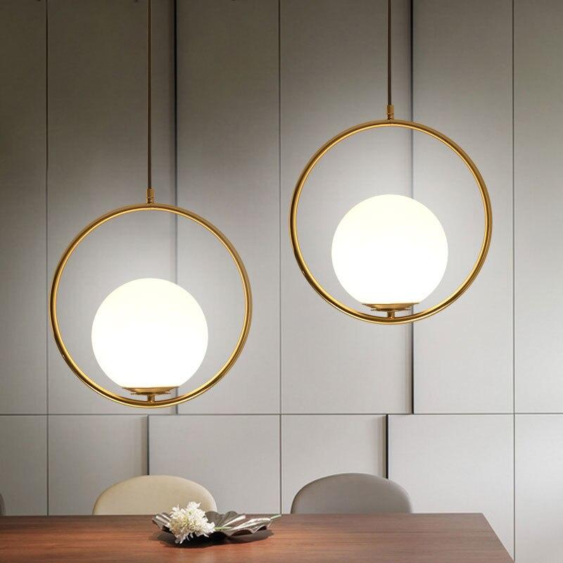 Nordic Round Globle Pendant Lights Glass Lampshade Pendant
