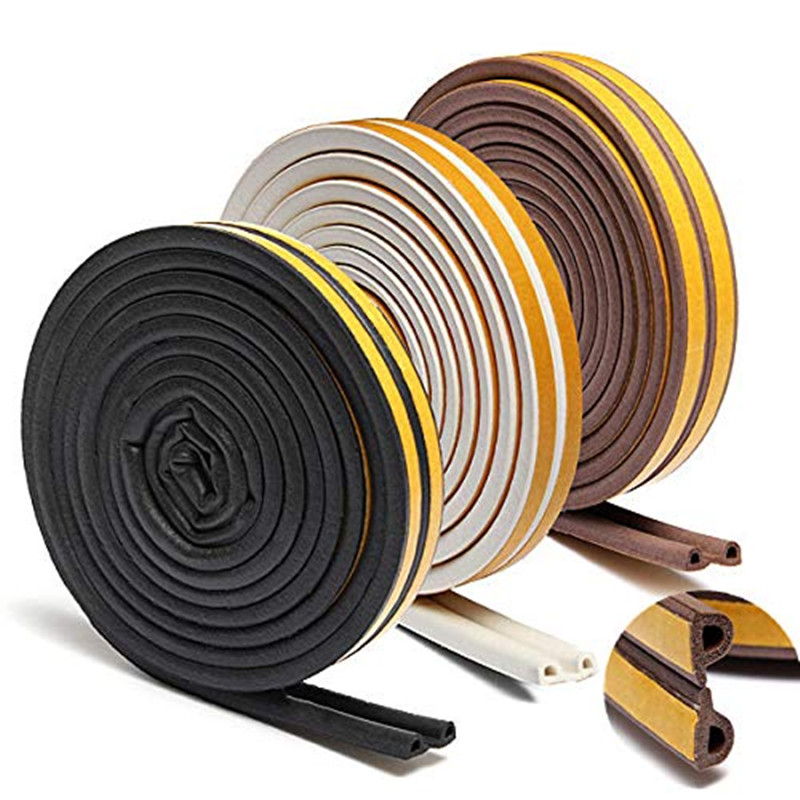 5M P Type Self Adhesive Seal Strips Foam Draught Excluder Of Weather Stripping Profile Window Door Seal Strip For Hardware Tools