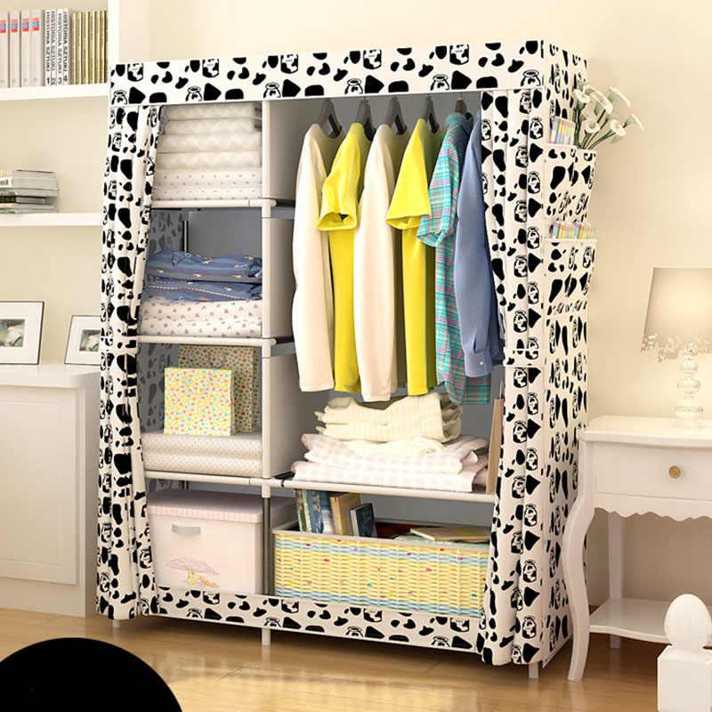 Шкаф-гардероб из нетканого материала для самостоятельной сборки, складной переносной шкаф для хранения одежды, мебель для спальни