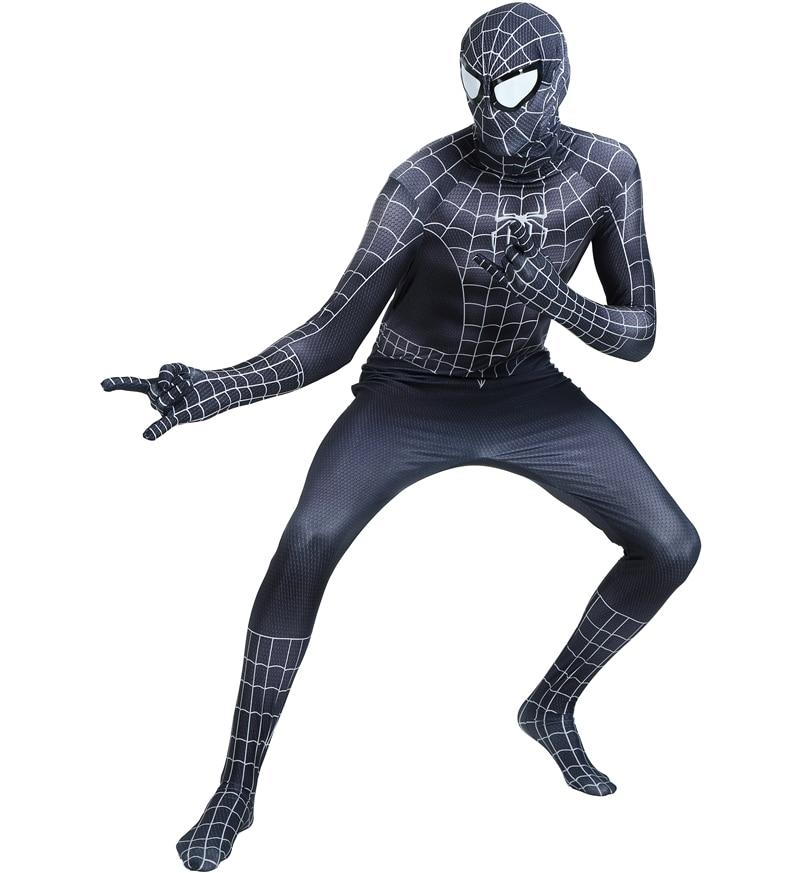 spider man homecoming Red Black Spiderman Costume Spider ...
