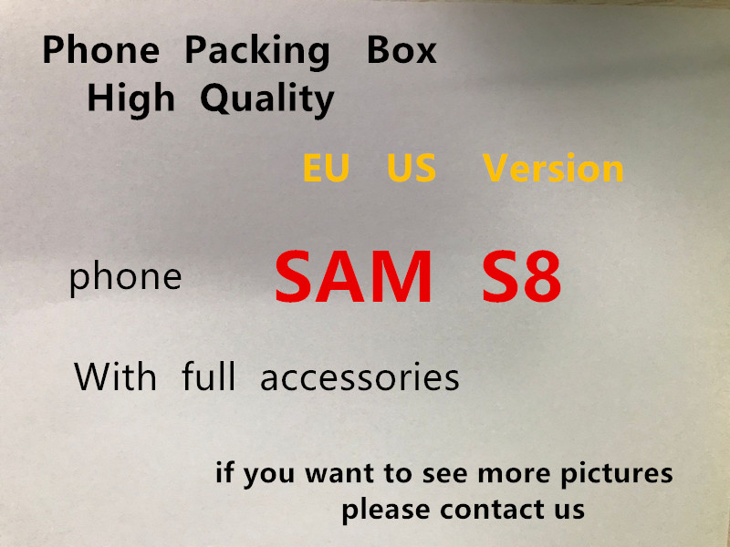 10pcs sets Hight Quality Phone Packaging Packing Box Case For Samsung S8 With Full Fast Charging Accessories Package Box in Phone Accessory Bundles Sets from Cellphones Telecommunications