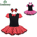 Girls Dress Summer Minnie Mouse Party Fancy Costume Cosplay Girls Ballet Tutu Dress+Ear Headband Girls Polka Dot Dress Children