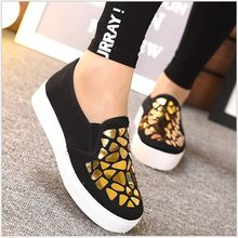 SHUJIN Fashion Women Loafers Vulcanize Shoes Canvas Sequins Sneakers Shoes Ladies Slip On Breathable Shallow Casual(China)