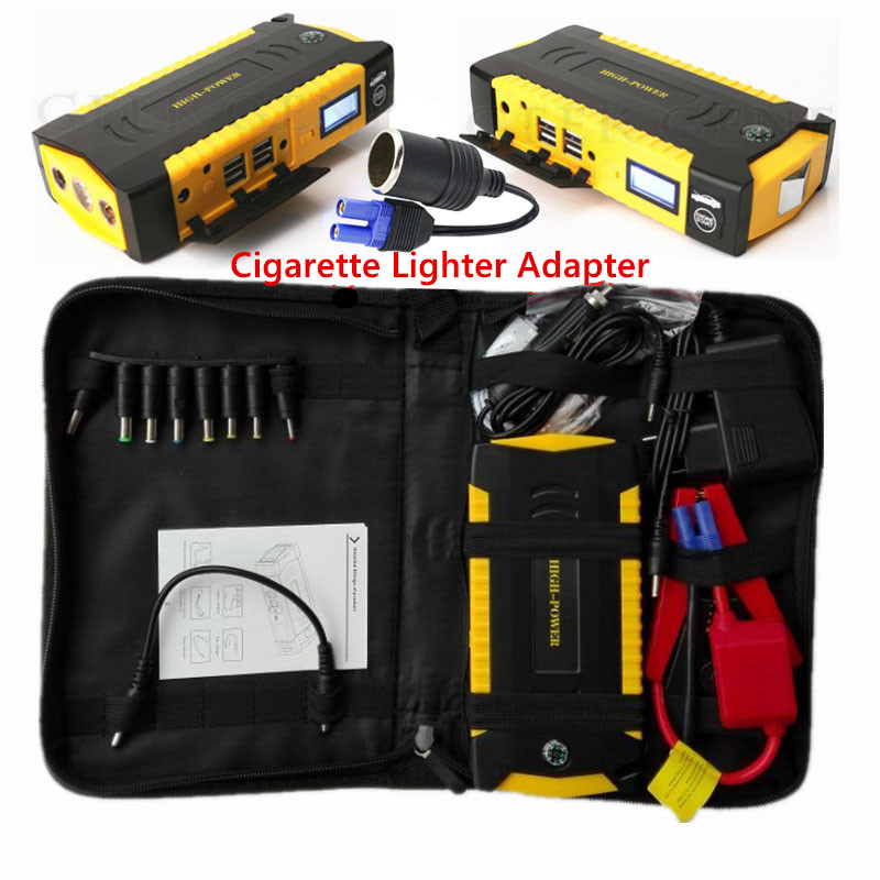 Car Jump Starter 600A Emergency Starting Device Portable 12V Power Bank Car Charger Car Battery Booster Buster Petrol Diesel LED