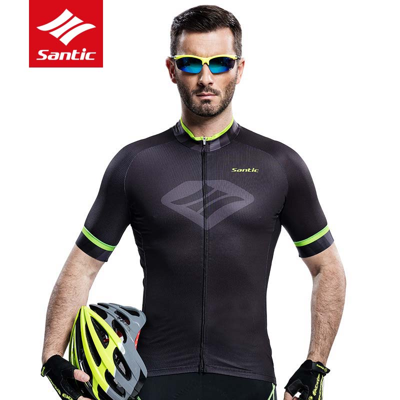 Santic Cycling Jersey Men Breathable Short Sleeve Bike Jersey Quick Dry MTB Road Cycling Clothing Bicycle Shirt Ropa Ciclismo fastcute cycling jersey sets ropa de ciclismo short sleeve road bicycle jersey gel padded mountain bike clothing mtb cycle set