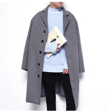 2016 autumn and winter Men's leisure vogue top quality single breasted trench coat Men's informal jacket coat Free delivery