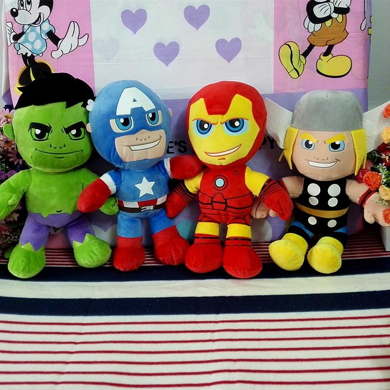 4PCS 30CM Avengers Dolls Stuffed Dolls Children Gifts Soft Toys