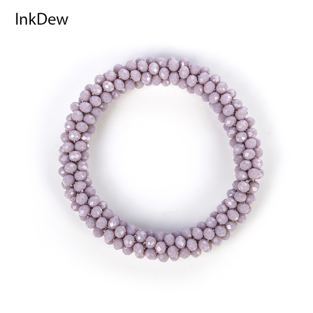 INKDEW 2018 Trendy Bead Bracelet Elastic Handmade Strand Bracelets for Women Gift Red Multicolor WHOLESALE Bracelets & Bangles