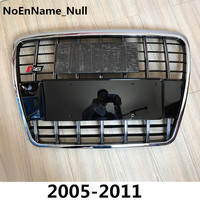 Silver Insert Mesh Grille Auto Grills For Audi A6 Quattro Styling C6 2005 2011 S6 Style