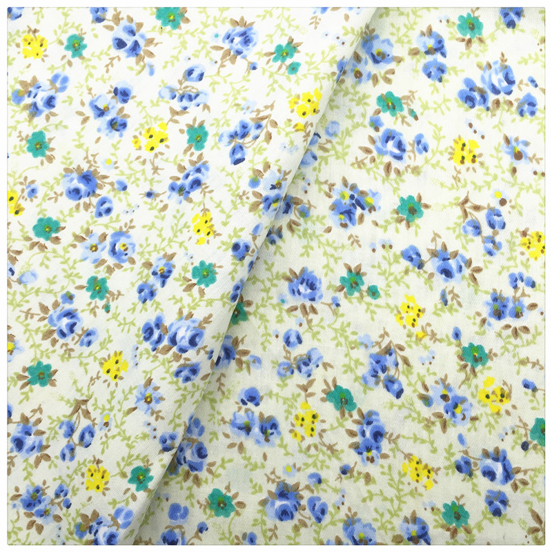 Floral 100 cotton fabric tissue telas print cotton fabric for Cloth material for sewing