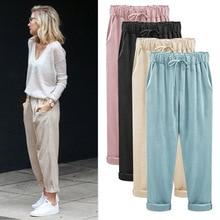 Zogaa Harem Pants Women Winter Autumn Sweatpants Velvet Bottoms Joggers High Waist Casual Female Loose Street Style