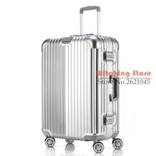 20 INCH 20242629# direct aluminum frame rod universal wheel luggage suitcase board box bags and one generation #EC FREE SHIPPING
