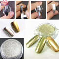 1g/Box Gold Sliver 2 Colors Mirror Glitter Powder For Nails Shinning Dust Nail Art DIY Chrome Pigment Glitters JH420