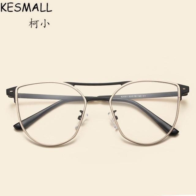 027d22619ca KESMALL Fashion Optical Glasses Frame Women Men Vintage Myopia Eyeglasses  Alloy Frames Gold Silvery Color Oculos De Grau YJ1008