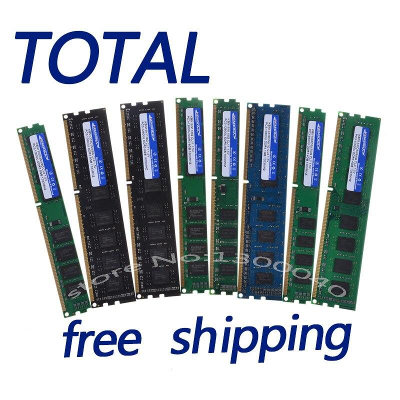 Kembona nuevo sellado DDR3 1600 MHz/1333 MHz/1066 MHz/PC3 10600 8g/4 GB /2 GB memoria RAM del escritorio/garantía de la vida/envío libre
