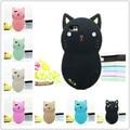 2016 encantador lindo 3d cartoon animal cat soft silicone rubber case cubierta para xiaomi mi3 mi 3