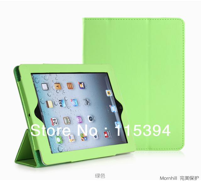 Hot~Free shipping pu material three-gear colorful protect smart case for new ipad i pad 2 ipad3 ipad4 accessories