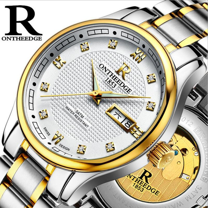 Relogio Masculino Luxury Brand full Steel automatic mechanical Men watch High Quality waterproof calendar date watches Men's read luxury golden automatic mechanical watches men fashion watch for men wristwatch waterproof full steel relogio masculino new