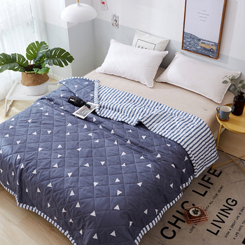 Summer Air Conditioning Quilt 200X230cm Washed Cotton Comforter Blanket  bedding sets Comforter Stitching Quilt Filling  KTB-8