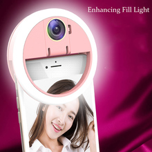 anillo led Selfie Portable Flash Led Camera Phone Photography Ring Light Enhancing lens for mobile phone Smartphone