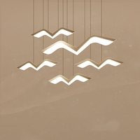 Seagull Dining Room Acryl Chandelier Cord Pendant Lamp Modern Kitchen Room Bar suspension luminaire Fixtures LED Nordic Lamp