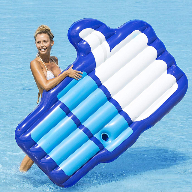Giant Thumb Up Inflatable Air Mattress Pool Float Palm Shape ...
