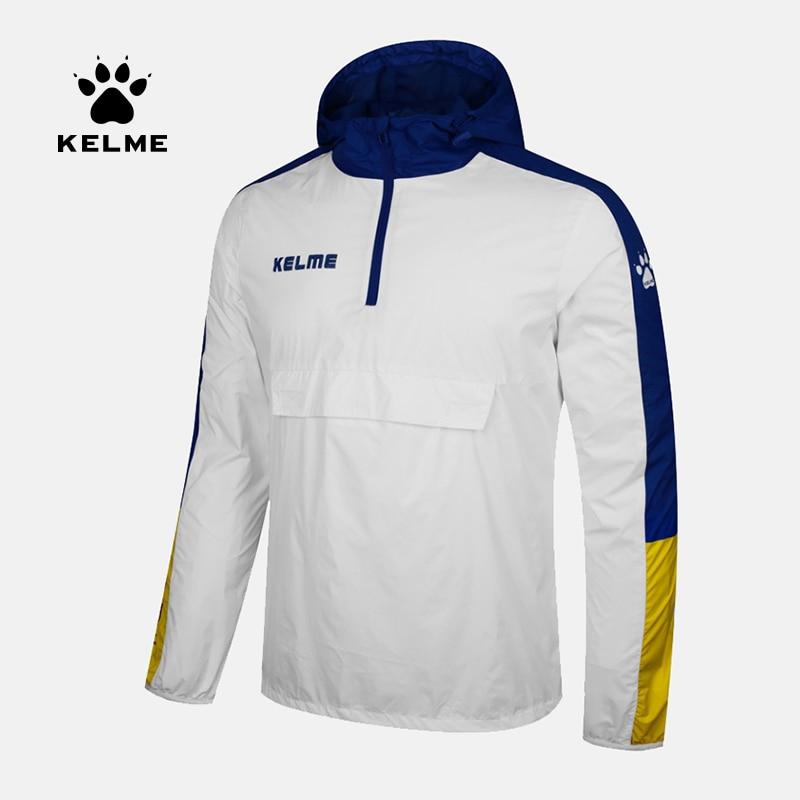 KELME スポーツ男性女性サッカーユニフォームジャケットランニングトレーニングハイキング防水レインコートフード付きジャケット OutdoorCoat 3881214  グループ上の スポーツ & エンターテイメント からの トレーニング & エクササイズ ジャケット の中 1