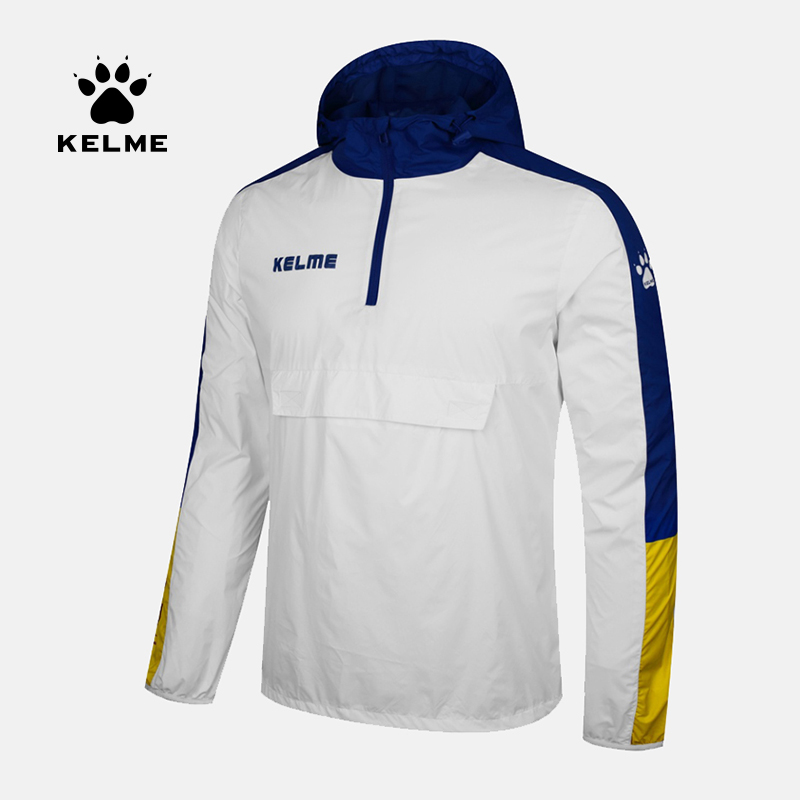 KELME Sports Men Women Soccer Jersey Jacket Running Training Hiking Waterproof Raincoats Hooded Jacket OutdoorCoat 3881214-in Trainning & Exercise Jackets from Sports & Entertainment    1