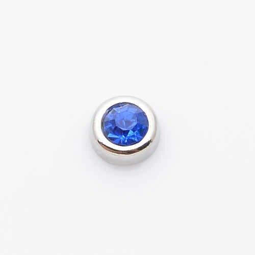 Màu xanh birthstone, nổi charms fit nổi charm lockets FC0015-F 10 cái/lốc