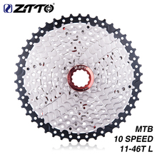 ZTTO 11-46T 10 Speed 10s Wide Ratio MTB Mountain Bike Bicycle Cassette Sprockets for parts m590 m6000 m610 m780  X7 X9 ztto 11 40 t 10 speed wide ratio mtb mountain bike bicycle cassette sprockets for parts m590 m6000 m610 m675 m780 x5 x7 x9