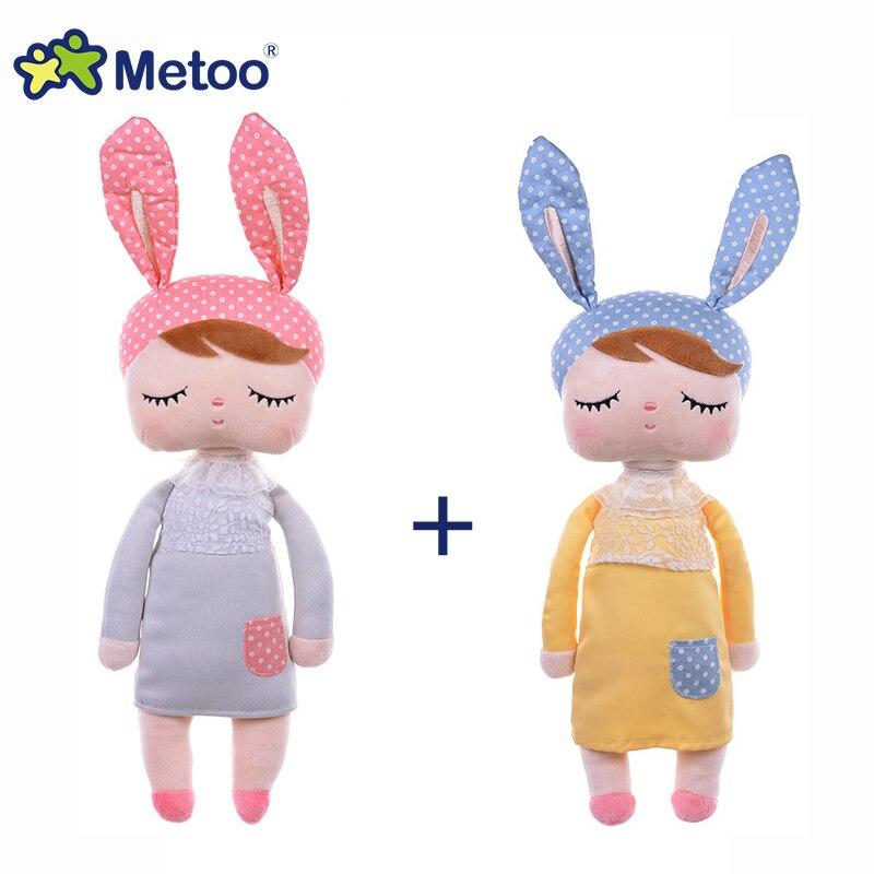 2 teile/los Metoo Puppe Stofftiere Plüsch Tiere Weiche Kinder Baby Spielzeug für Mädchen Kinder Jungen Geburtstag Kawaii Cartoon Angela kaninchen