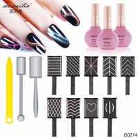 12 Pz/set Forte Effetto Magnete Chiodo di Arte Stick 3D Occhio di Gatto Smalto Del Gel Nails Art Manicure Magnete Magnetico Verticale penna Del Bastone
