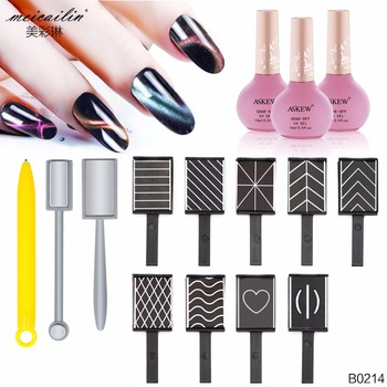 12 pcs/Set Strong Effect Nail Magnet Art Stick tool 3D Cat Eye Gel Polish Nails Art Manicure Magnetic Magnet Vertical Stick Pen