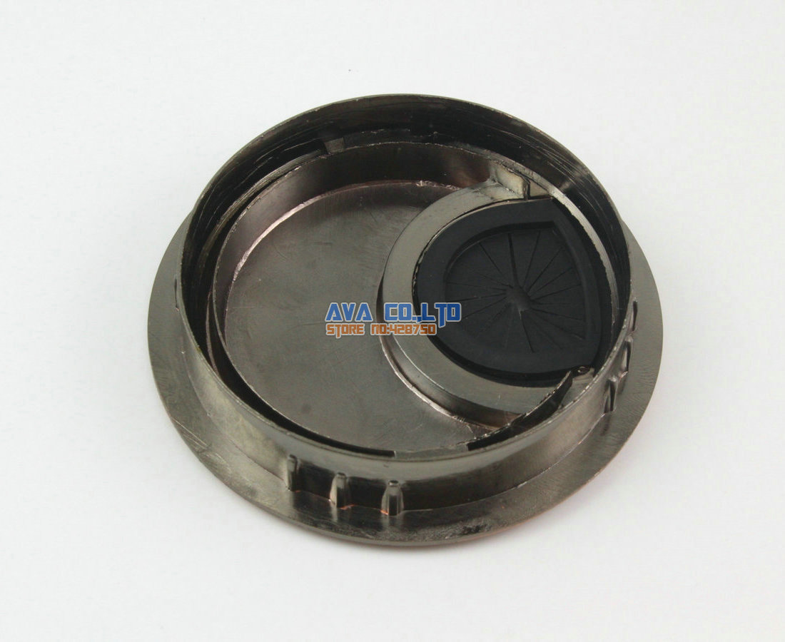 4 Pieces 60mm Metal Computer Desk Table Cable Hole Cover Wire ...