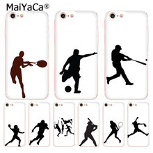 MaiYaCa baseball Fútbol Tenis Golf atleta silueta teléfono funda para Apple iphone 11 pro 8 7 66S Plus X 5S SE XR XS.(China)