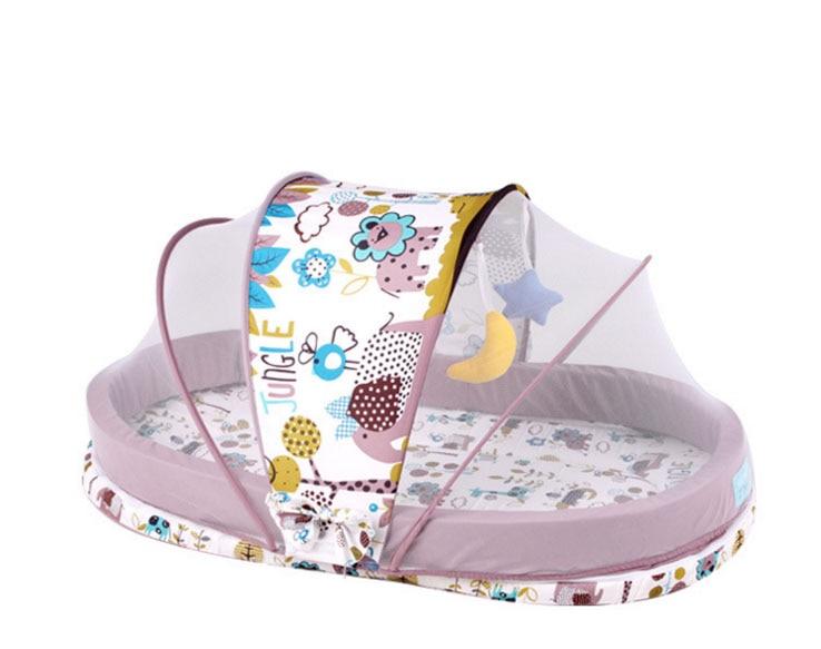 Bed Voor Kind 2 Jaar.Us 50 65 32 Off Nieuwe Baby Wieg 0 2 Jaar Baby Bed Set Draagbare Opvouwbare Kinderbed Boxen Kind Station Onderweg Cradle Klamboe In Babybedje Van