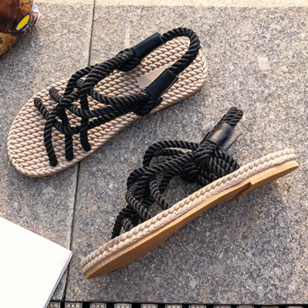 HTB1CaA7dMmH3KVjSZKzq6z2OXXaY - SAGACE Sandals Woman Shoes Braided Rope With Traditional Casual Style And Simple Creativity Fashion Sandals Women Summer Shoes