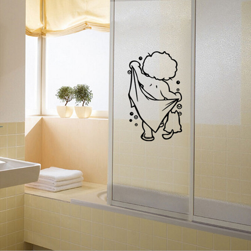 wall decals new design sweet baby take a shower wall sticker decals vinyl removable bathroom sticker