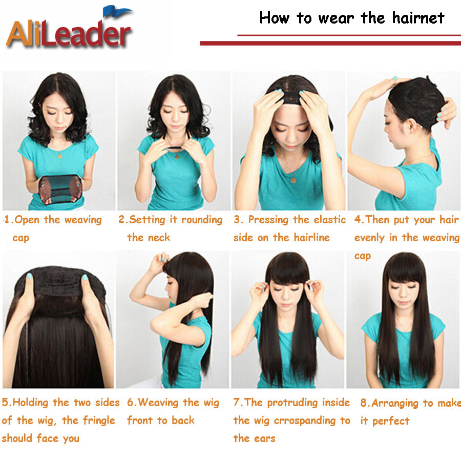 Alileader Beauty Wish Wig 1Pcs-5Pcs New Stretchable Elastic Hair Nets Snood Wig Cap Cool Mesh Cosplay Black Color FishHairnet 5