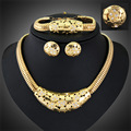Fashion Necklaces Bracelets Earrings Rings Ladies jewelry fashion jewellery sets For Women  Dubai Gold Plated Jewelry Set
