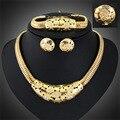 Moda Collares Pulseras Pendientes Anillos joyería de Las Señoras conjuntos de joyas de moda Para Las Mujeres Dubai Chapado En Oro de Joyería Set