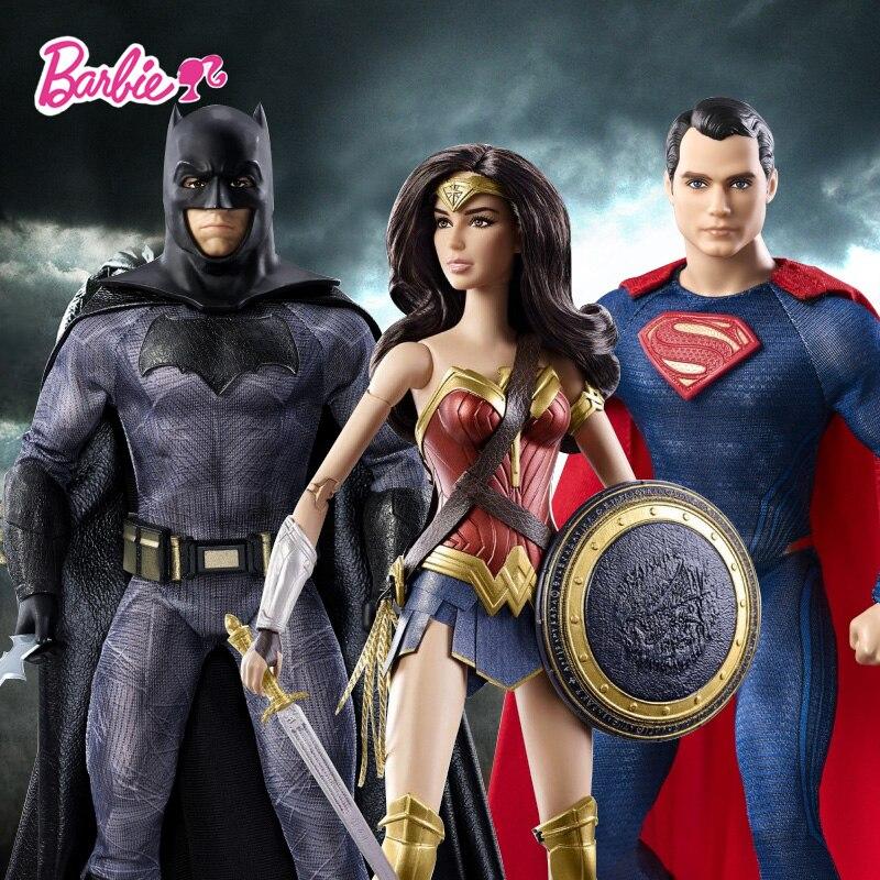 Barbie Origina Barbie Batman War Superman Series Barbies Batman DGY04 Superman DGY05 Wonderful Woman DGY06 Best Choose For Gift