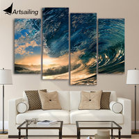 4 Stücke Leinwand Gemälde Gedruckt Tropical Paradise Ozean Sea Wall art Print Leinwand Gemälde Wohnkultur Für Wohnzimmer we329