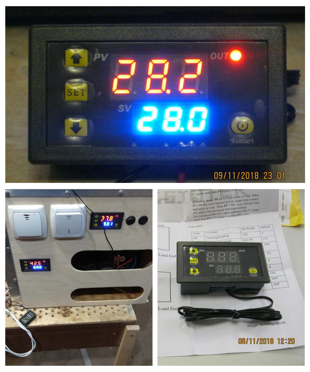 W3230 DC 12V 24V 110V-220V AC Digital Temperature Controller  LED Display Thermostat With Heating/Cooling Control Instrument