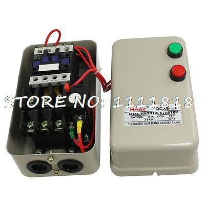 36V Coil 2.2KW 3 HP 3.2-5A AC Contactor Motor Control Magnetic Starter chint electromagnetism starter magnetic force starter qc36 10t motor starter phase protect magnetic force switch