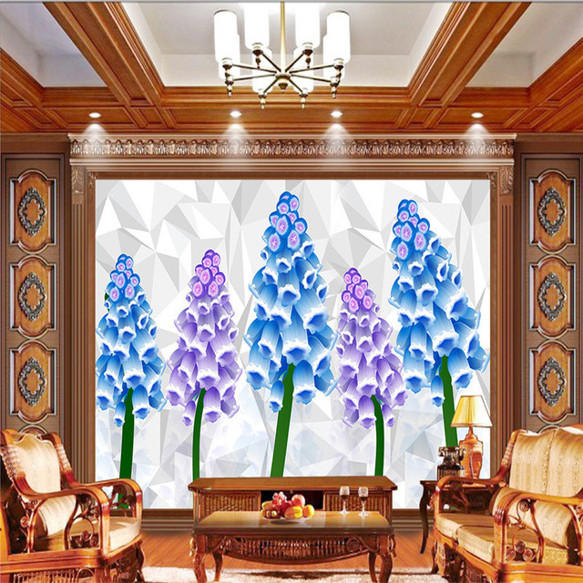 Benutzerdefinierte 3D Blumen Tapeten Moderne für Wände Wohnzimmer  Restaurant Schlafzimmer Hintergrund Home Decor