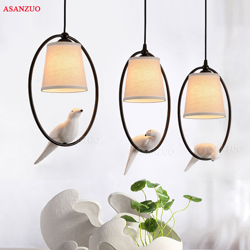 Loft Vintage Bird Light Bedroom Living Room Restaurant Cafe Corridorr Dining Room Chandelier Suspension Luminaire Pendant Lamp